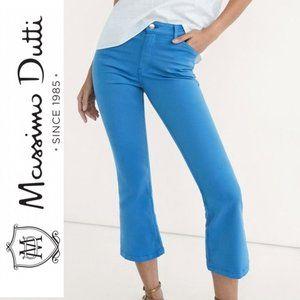 Massimo Dutti Skinny Fit Blue Flare Pants
